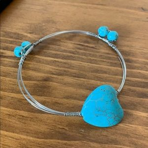 🎀5/$25🎀 Wire Turquoise Stone Bangle Bracelet